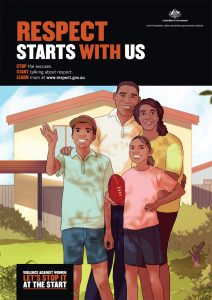 Respect starts with us poster