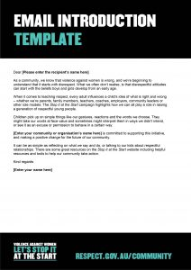 Email introduction template